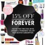 GlossyBox Coupon Code – 15% Off Monthly Subscription Forever!