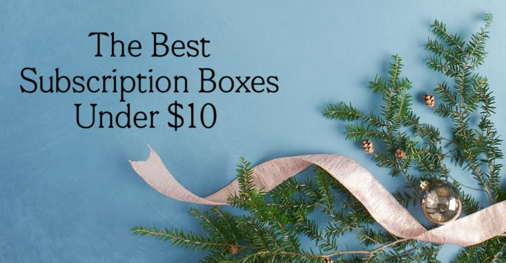 Best Monthly Subscription Box Gifts for Under $10 a Month | MSA