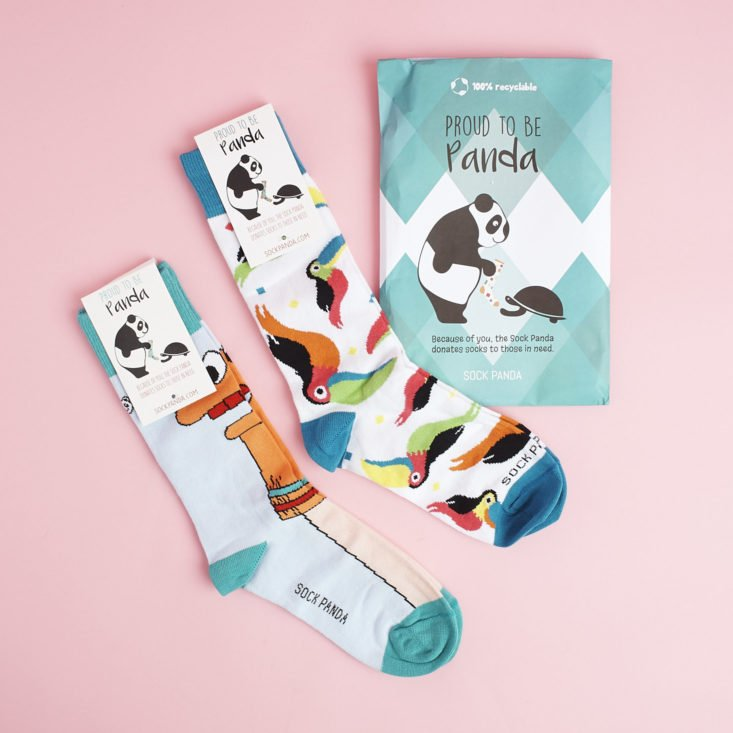 The Sock Panda subscription has such quirky patterns—it makes a great unique gift!