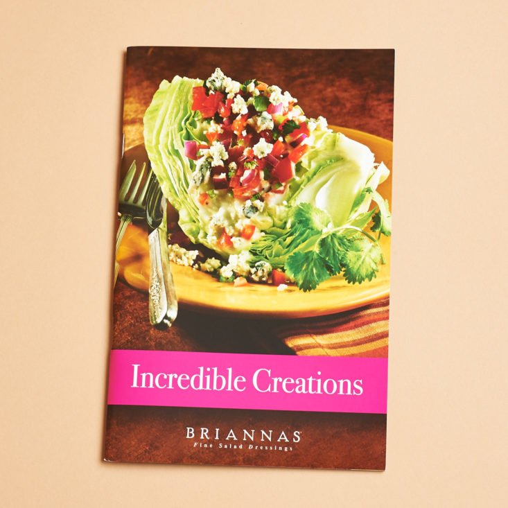 """Briannas """"Incredible Creations"""" Booklet"""