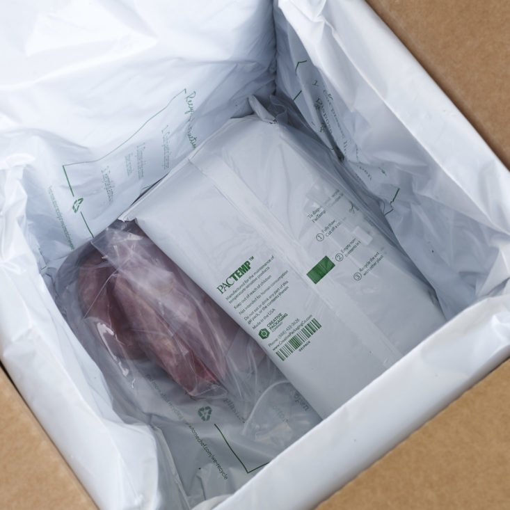 ice packs and meat in Home Chef Box