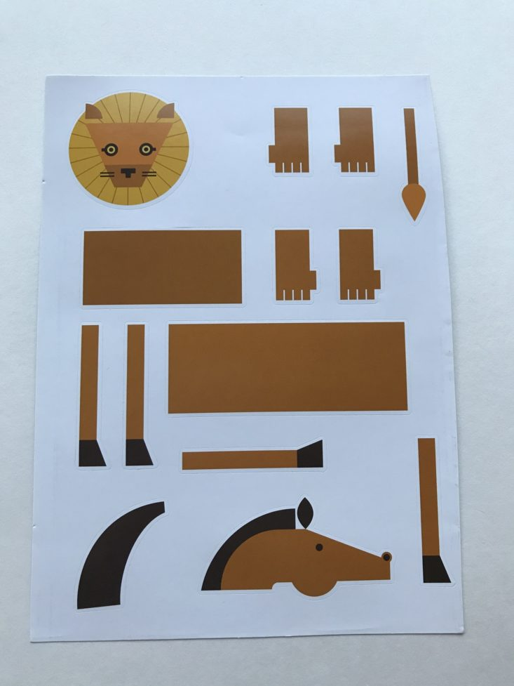 Create-an-Animal Stickers shapes of a lion