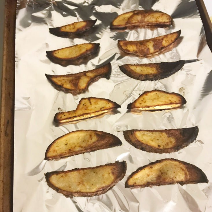 cooked potato wedges