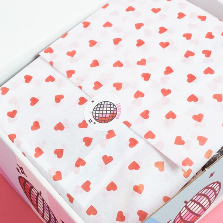 heart paper wrapped quirky crate items
