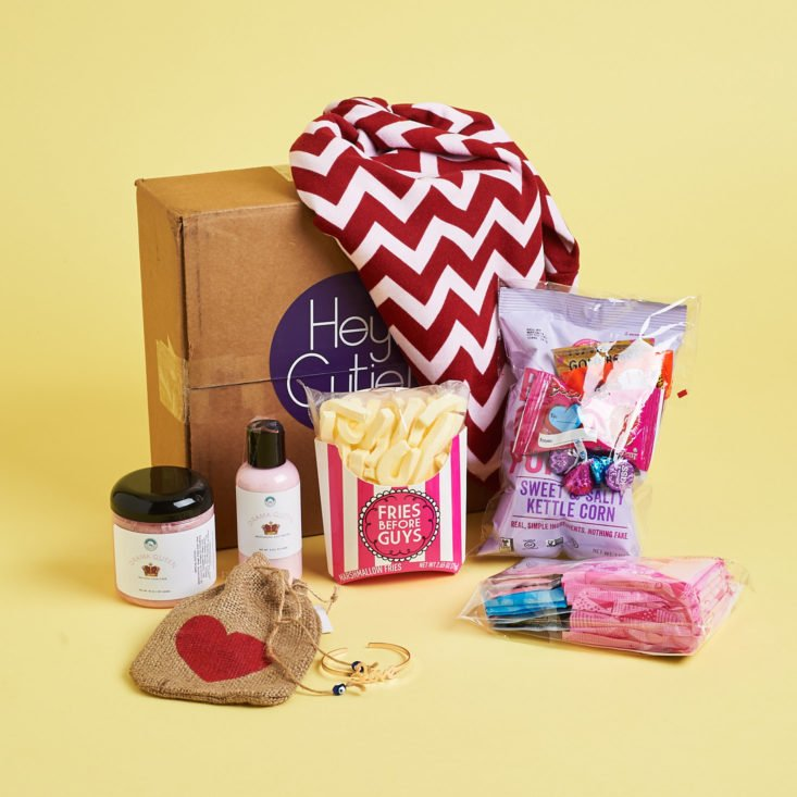 all items in the dot boxx teen february 2018 box