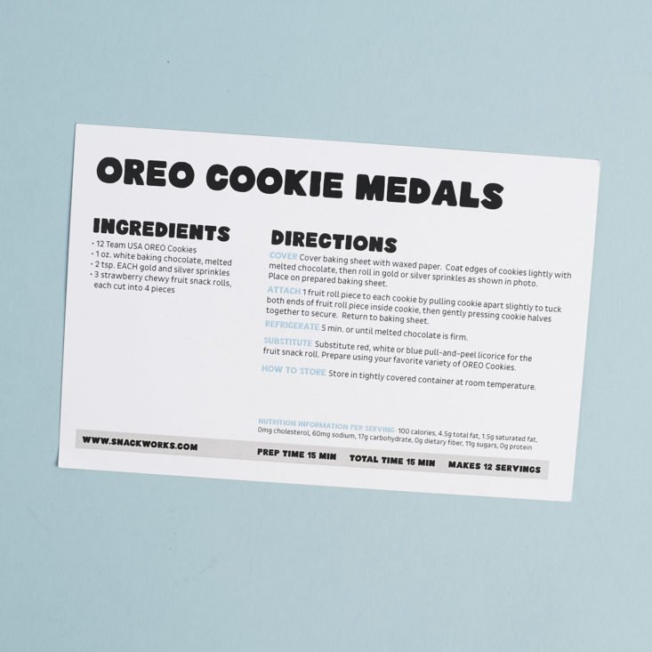 recipe for oreo cookie medals