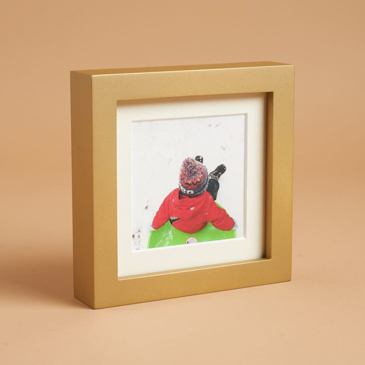Custom Framed Photo in Magnetic Frame is the hero item this month!