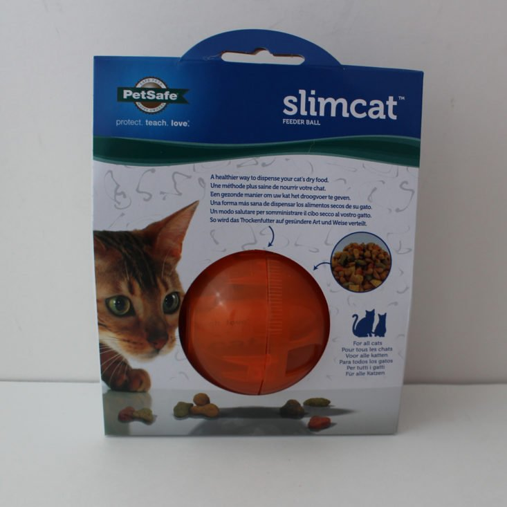 Petsafe Slimcat Feeder Ball in packaging