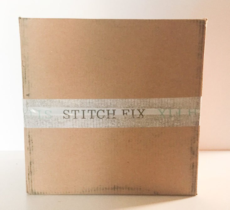 stitch fix plus february 2018 box closed