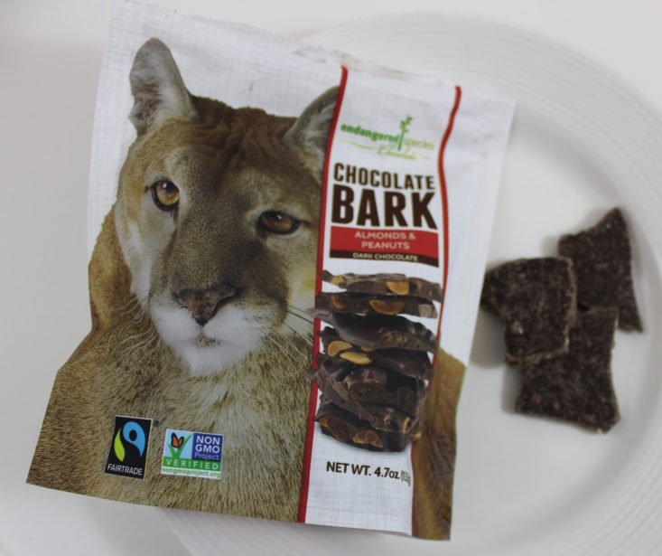 Endangered Species Chocolate Bark with Almonds and Peanuts