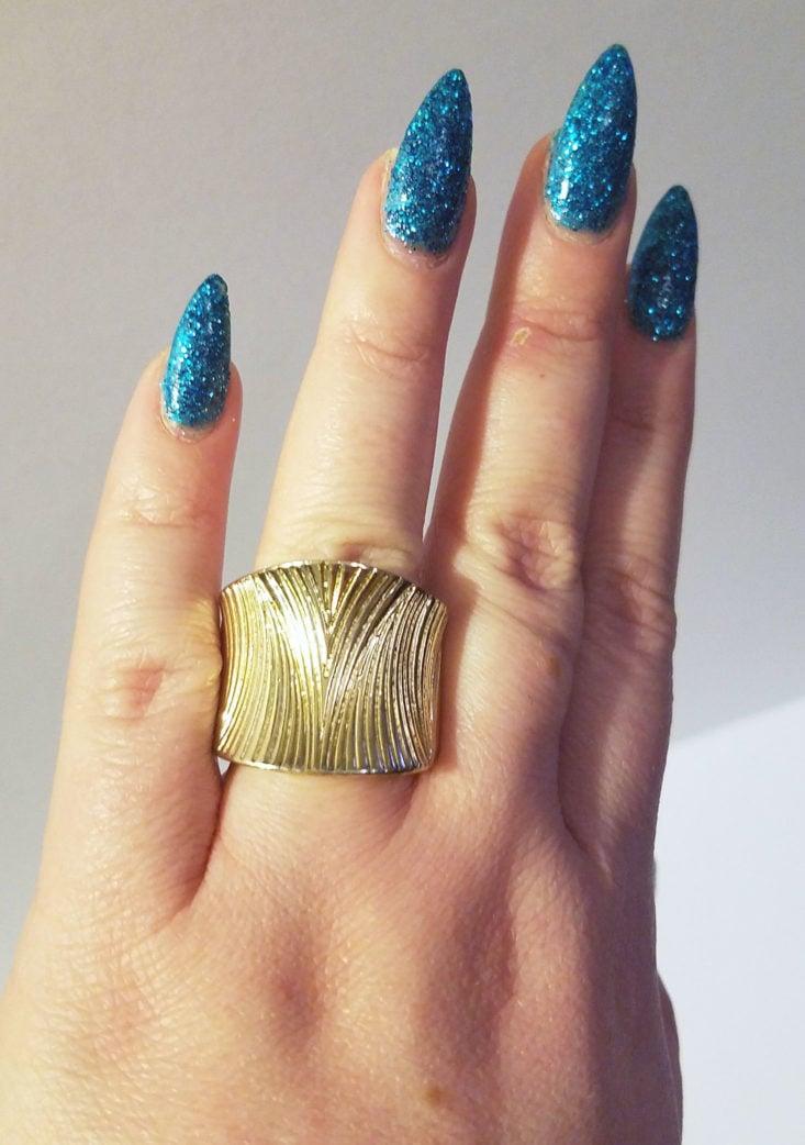 Bold Golden Girl Statement Ring