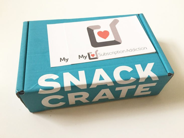 Snack Crate February 2018 Box itself