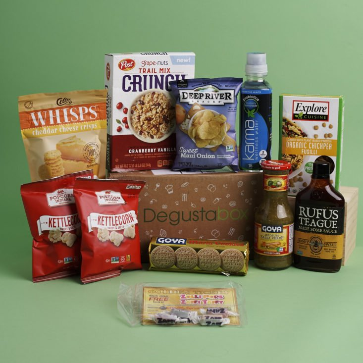 contents of may 2018 Degustabox