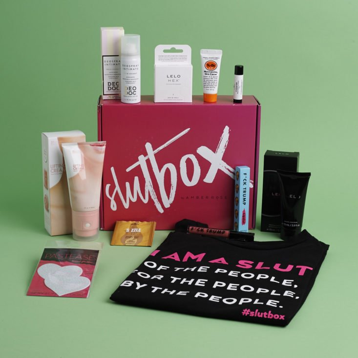 SlutBox May 2018 contents
