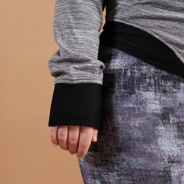 wantable fitness sweatshirt cuff