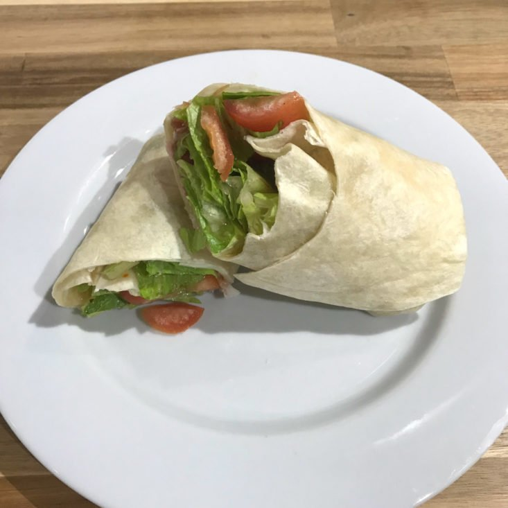 finished PLT Prosciutto Wrap