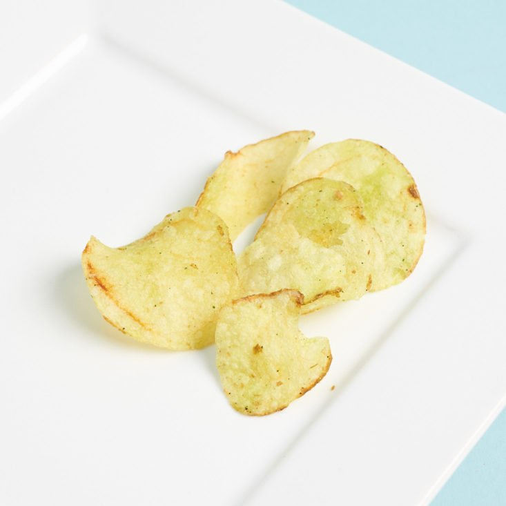japan crate potato chips on plate