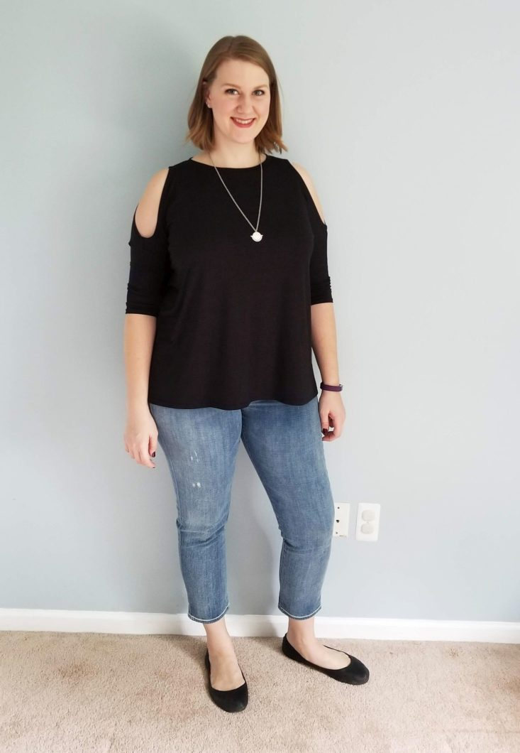 Daily Look October 2018 black top and jeans