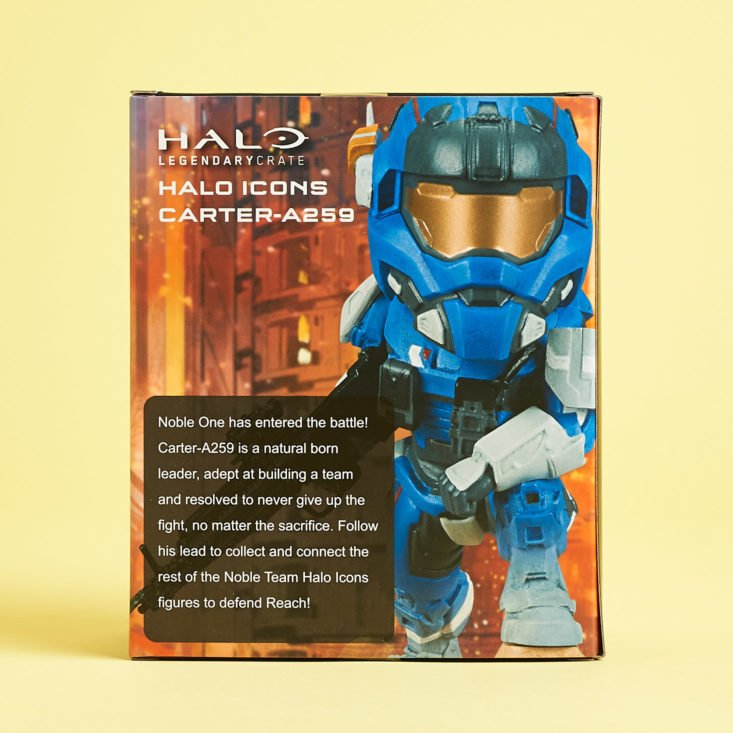 Halo Legendary Crate Leadership September 2018 - Halo Icons Carter-A259 Packed Back View