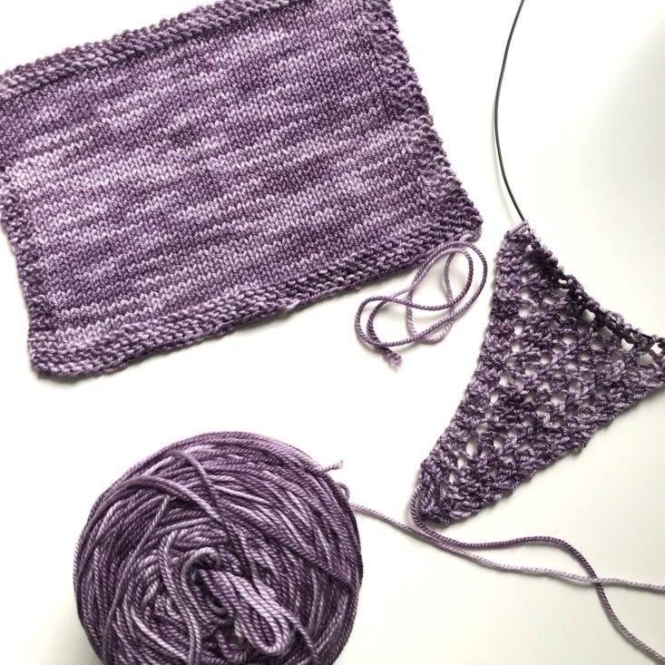 Swatch and Sample Knit Lace