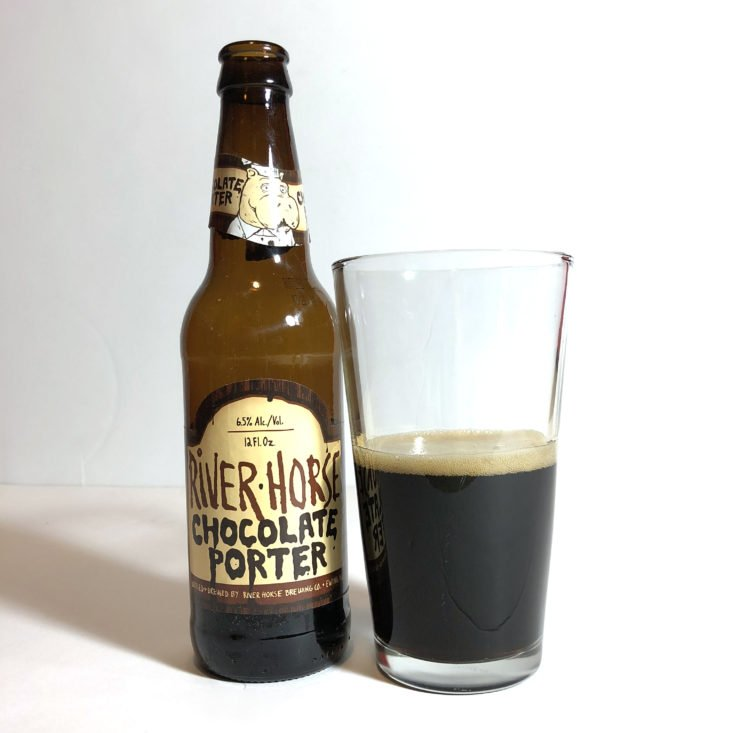 The Microbrewed Beer of the Month August 2018 - chocolate porter poured