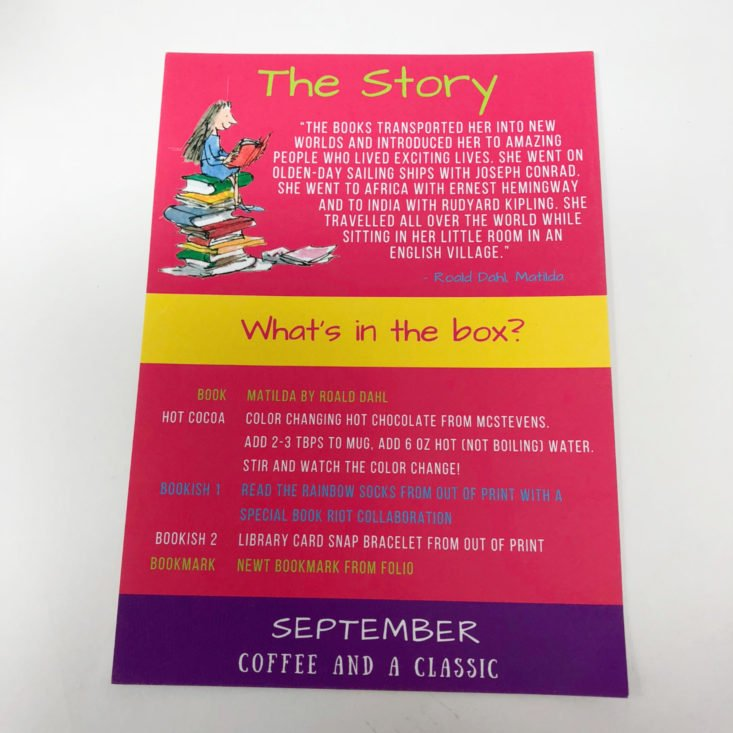 coffee and a classic information card