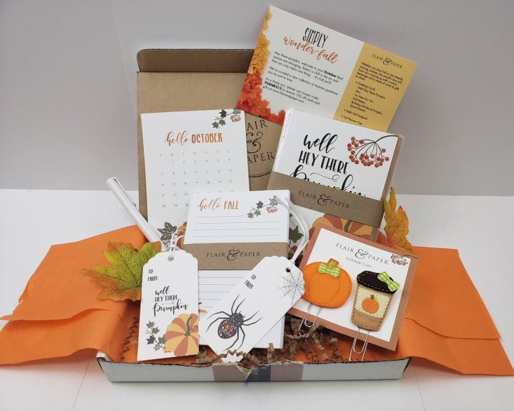 Flair & Paper October 2018 - Box Products Group Shot Front