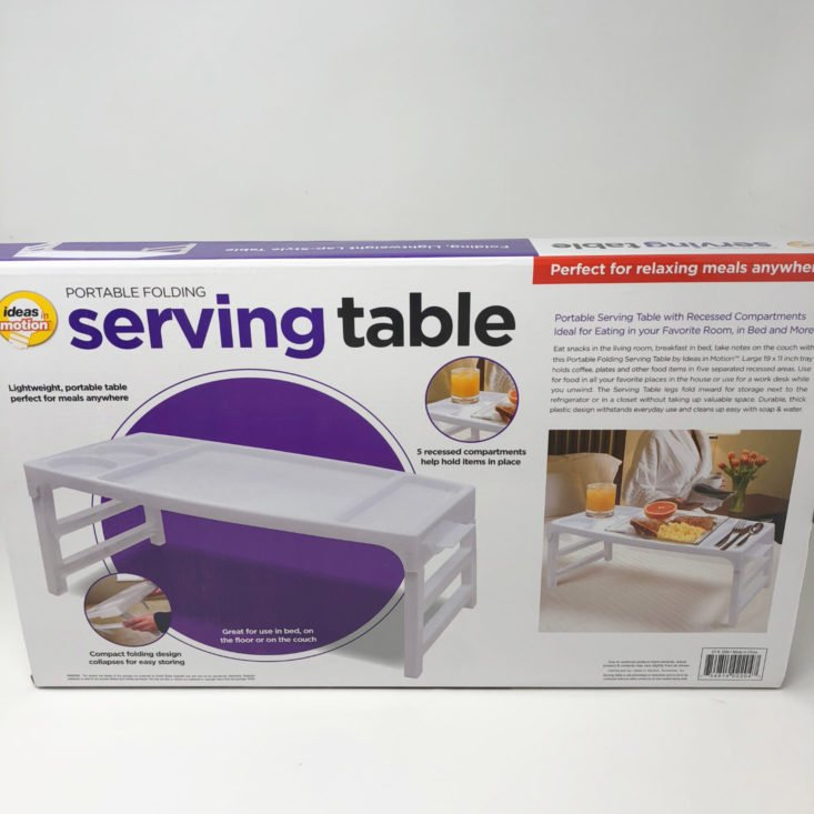 Mystery Box October 2018 - Portable Folding Serving Table Boxed Front