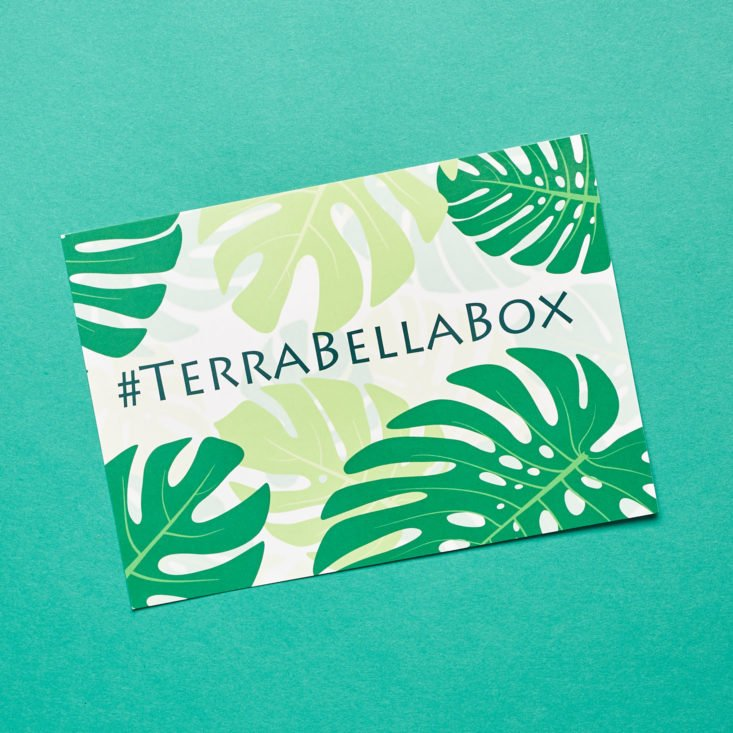 terra bella box info card