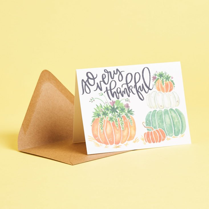 Postmarkd Studio November 2018 pumpkin card