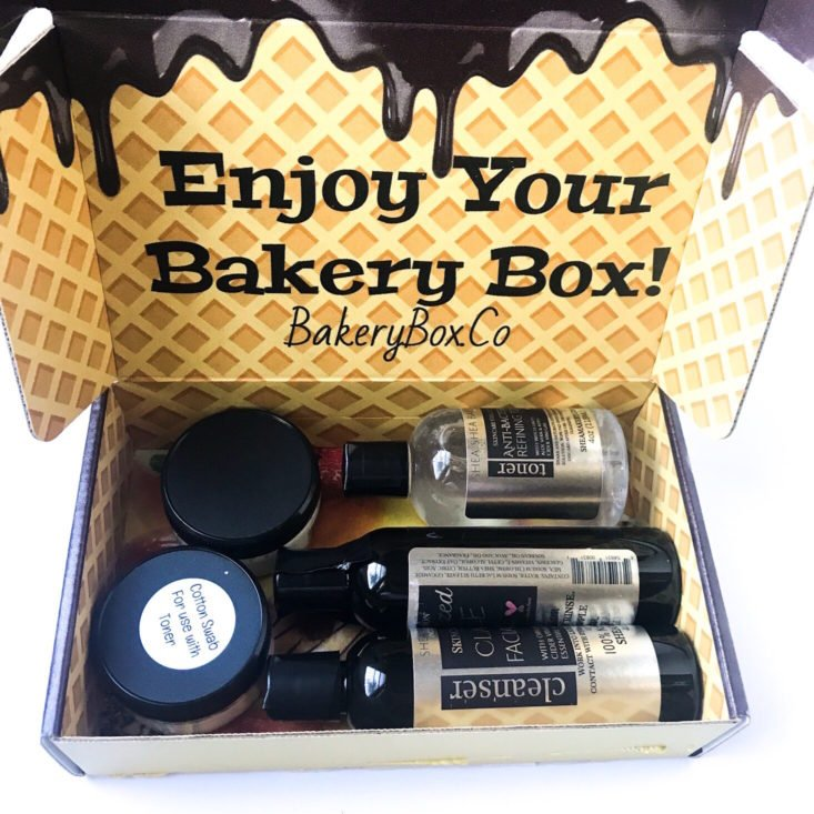 The Bakery Box October 2018 - Opened Box Front