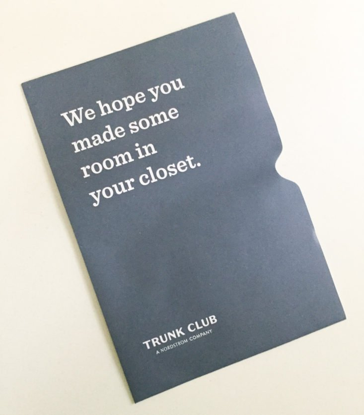 Trunk Club October 2018 - Booklet Front 1