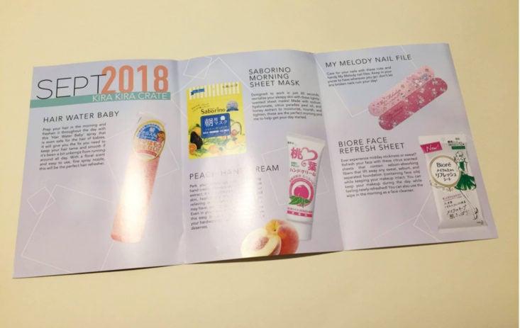 Kira Kira Crate Refreshment 2018 -Pamphlet Middle