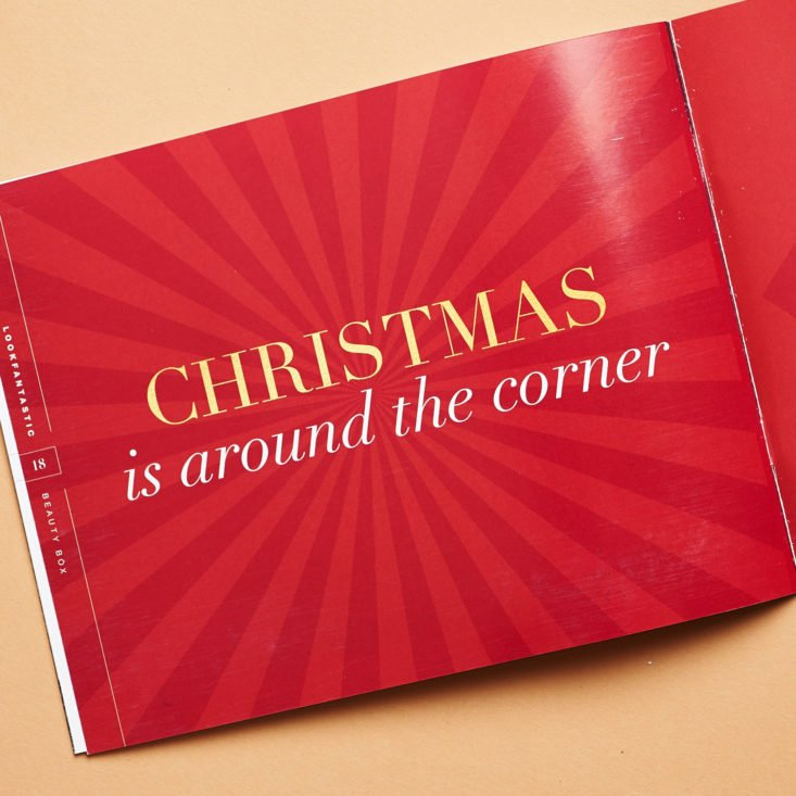 Look Fantastic November 2018 booklet christmas promo