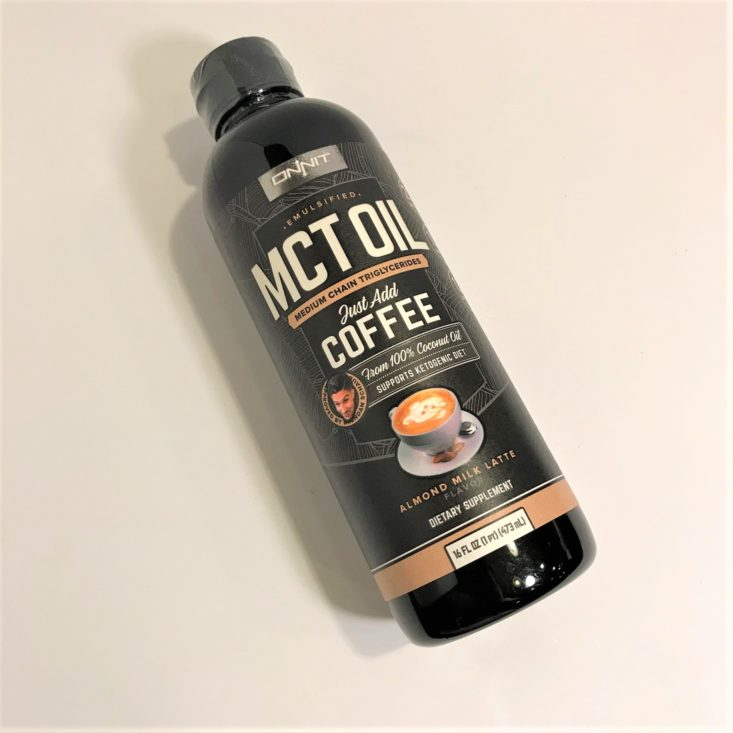 Onnit Keto Box December 2018 - Onnit MCT Oil – Almond Milk Latte Front Top
