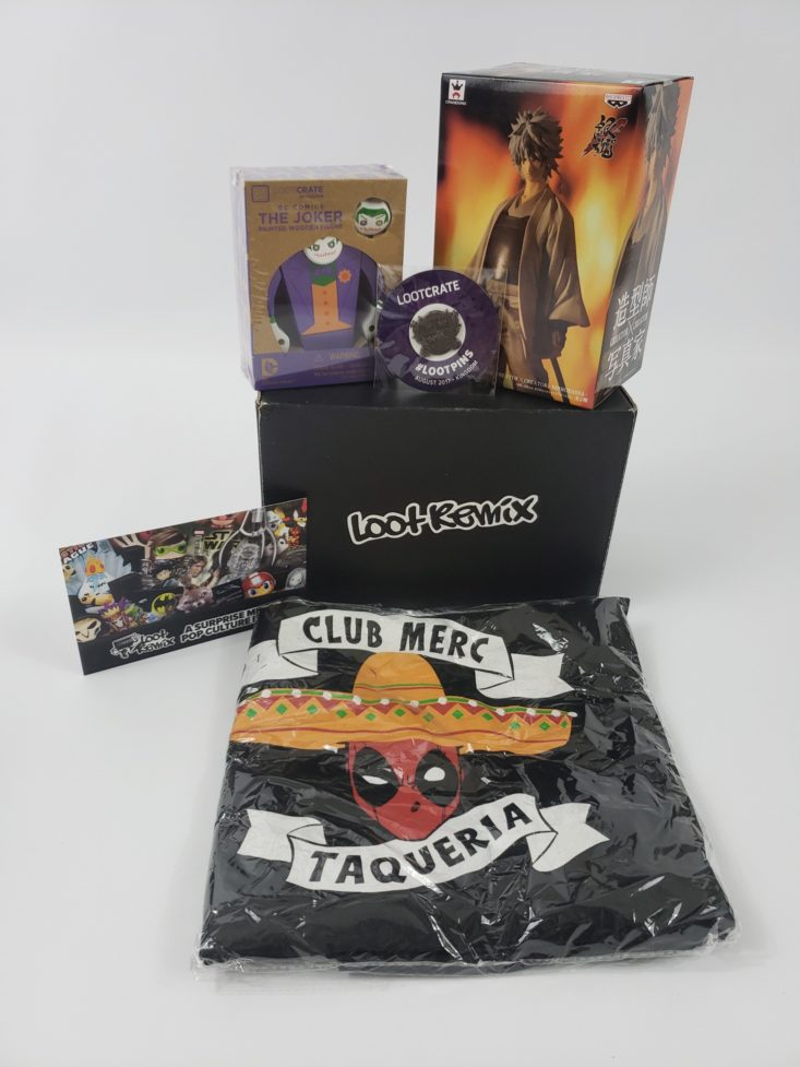 Loot Remix by Loot Crate January 2019 - All Content Front