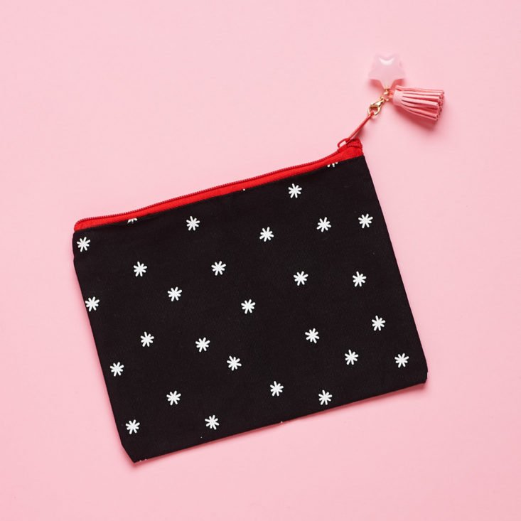 Quirky Crate star pattern makeup pouch