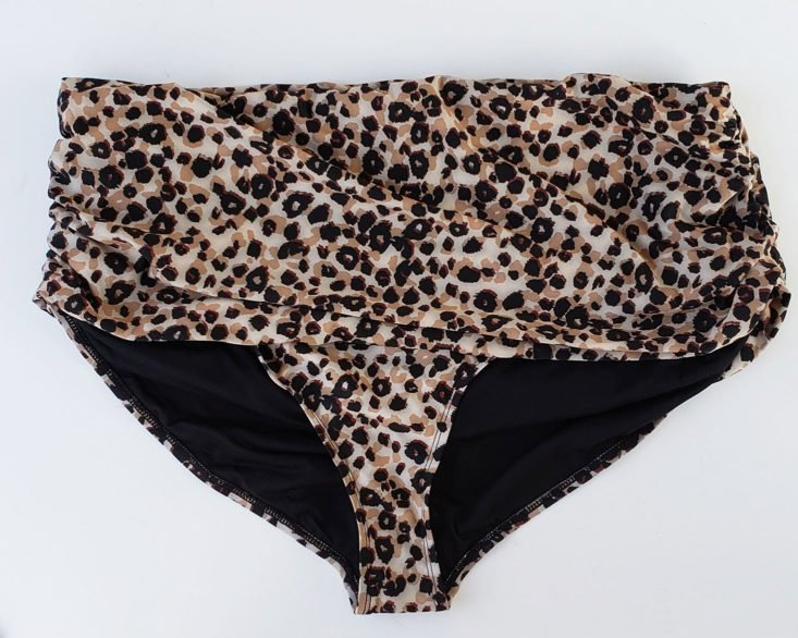 Shoe Dazzle Plus Size October 2018 - Ruched High Waisted Two Piece in Leopard Print Size 3x Top 4