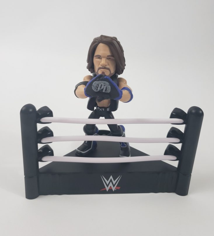 WWE Slam Crate by Loot Crate December 2018 - AJ Styles Collectible Figure Presented Front