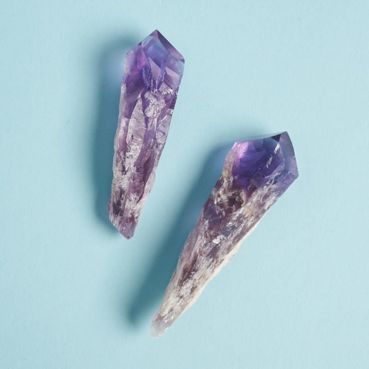 Enchanted Crystal February 2019 brazilian dragon's tooth amethyst pair