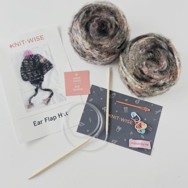 Knit-Wise Yarn Subscription Box Review - January 2019 - All Items