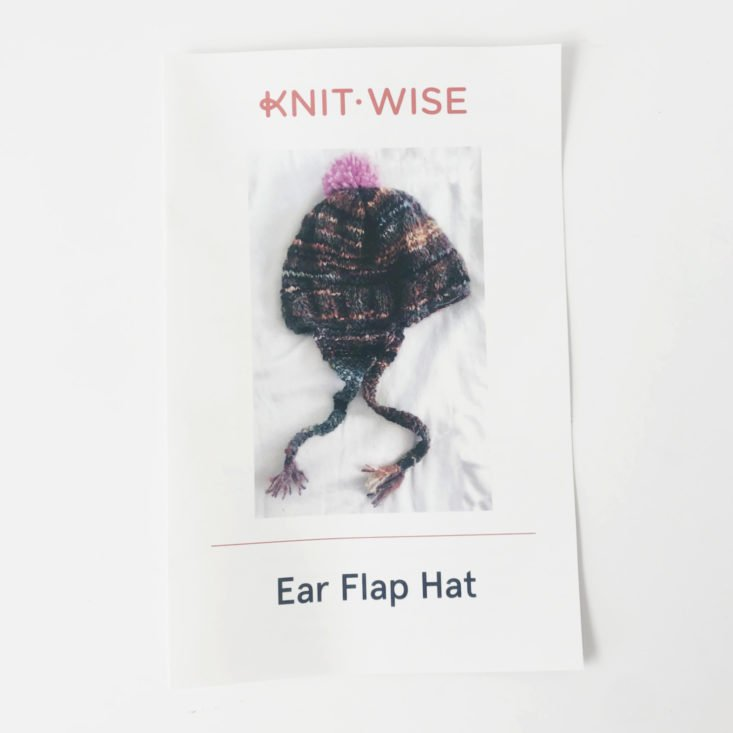 Knit-Wise Yarn Subscription Box Review - January 2019 - Pattern Cover