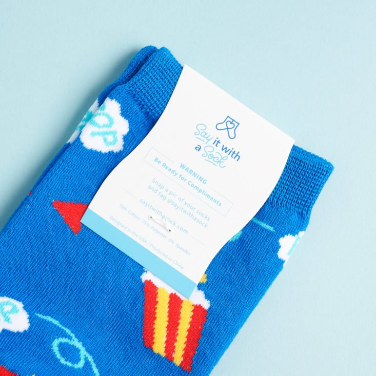 Say It With A Sock Womens February 2019 socsk with card