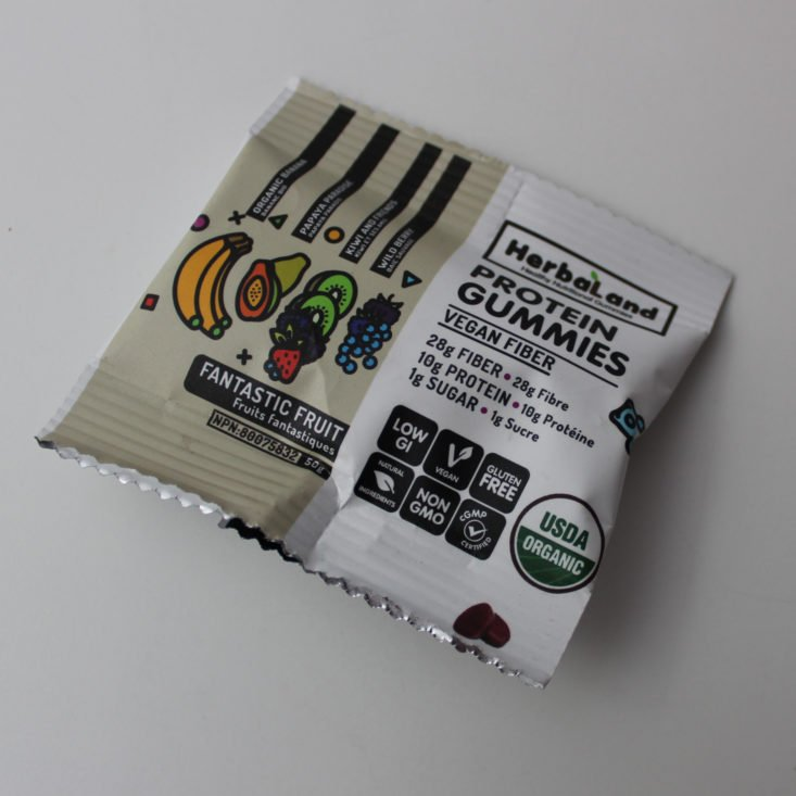 Vegan Cuts Snack February 2019 - Herbaland Protein Gummies Packed