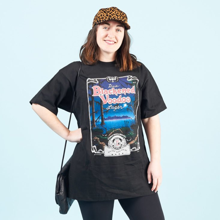 CHC Vintage March 2019 oversized black tee and purse