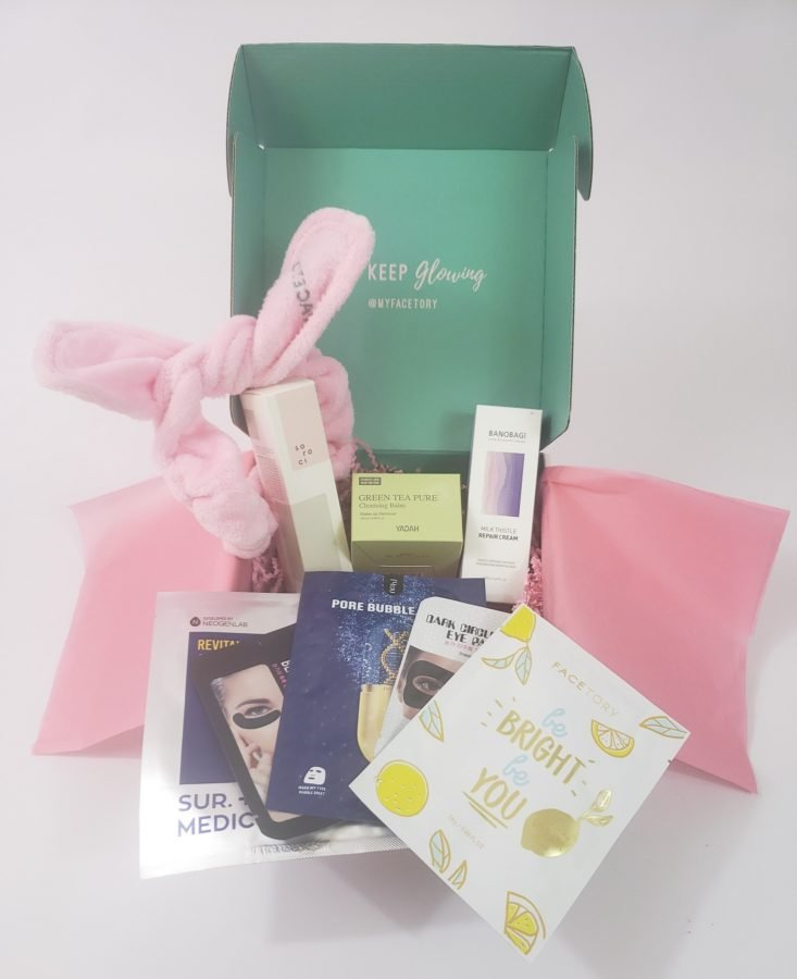 Facetory Lux Box Deluxe Review March 2019 - All Products In Box Top