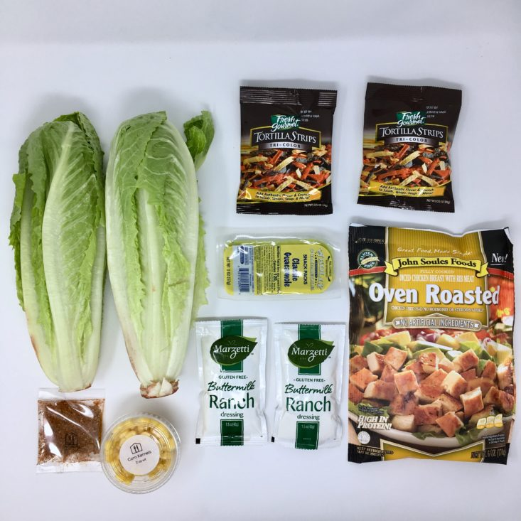Home Chef Subscription Box Review March 2019 - Salad Laydown Group Top