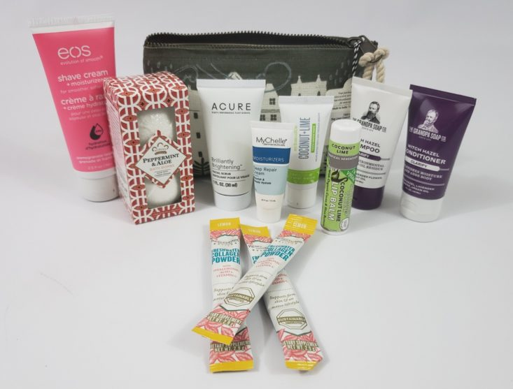 LuckyVitamin Deluxe Sample Edition Beauty Bag March 2019 - All Contents Top