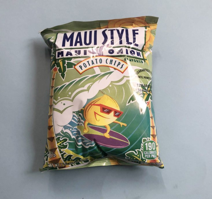 Snack Crate February 2019 - Maui Style Onion Chips Package Front