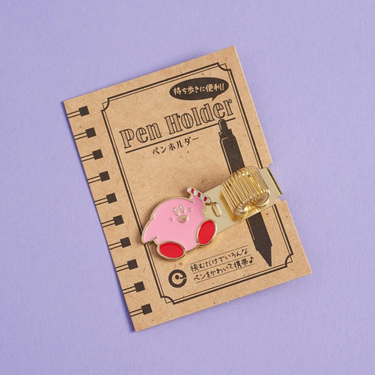 YumeTwins February 2019 kirby pen huggie on packaging